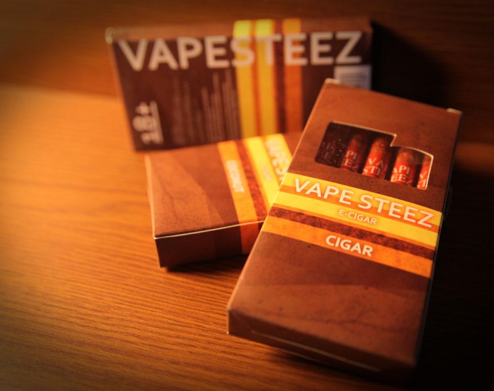 使い捨て式電子タバコランキング第2位のVAPE STEEZ E-CIGAR