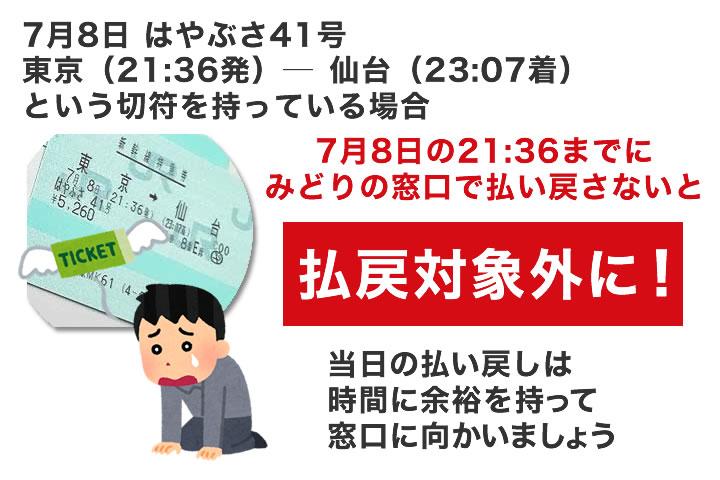新幹線切符を当日にキャンセルする場合は注意!
