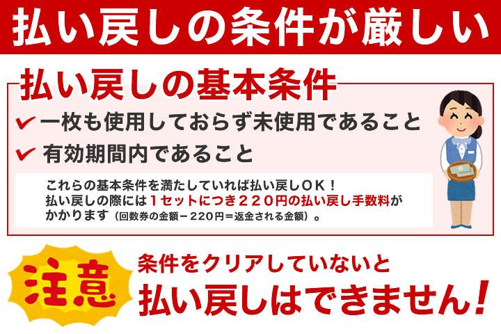 新幹線回数券の払い戻しは難しい!
