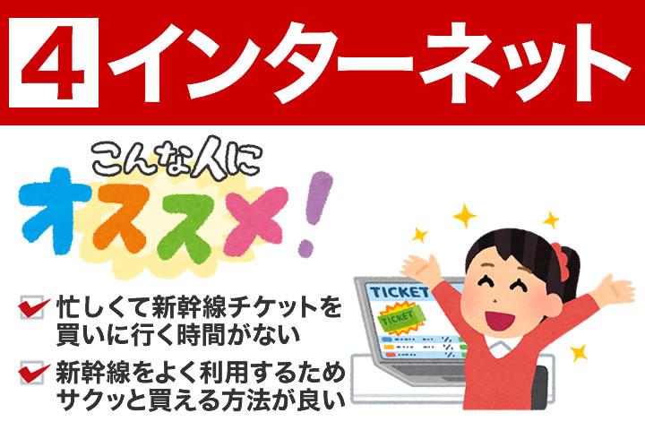 インターネットでの新幹線チケットの買い方