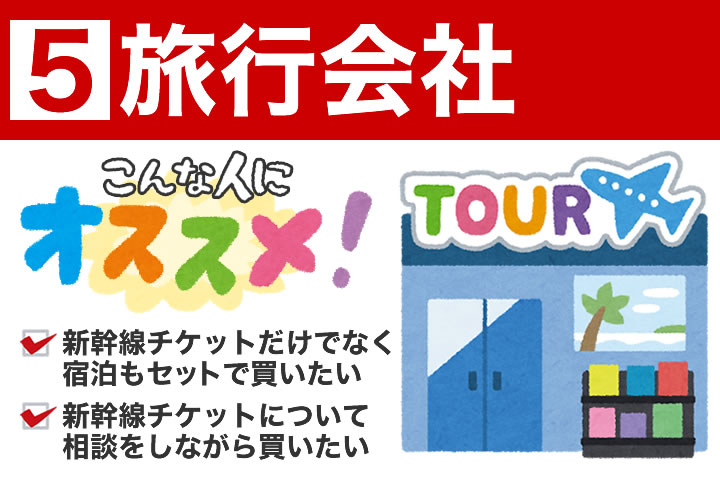 旅行会社での新幹線チケットの買い方